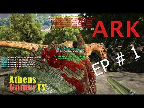 ARK: Survival Evolved EP#1 AthensGamerTV by Athens Thanakrit