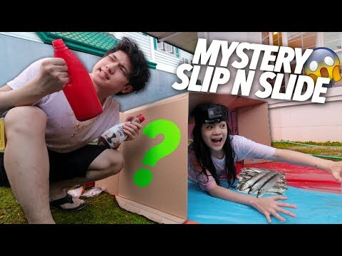 Sliding Through the Mystery Box!! | Ranz and Niana