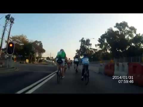 Dangerous road cycling in Hong Kong Asia - Do not imitate!