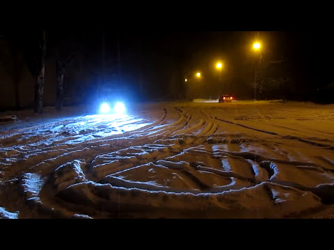 BMW e30 & MOSKVICH 412 snow play