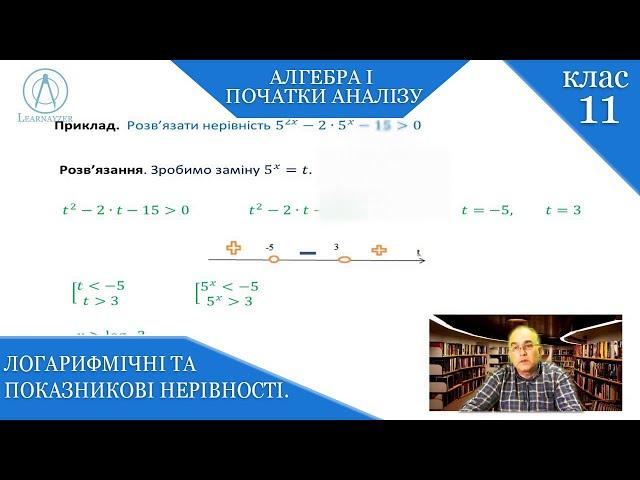 11 клас. Алгебра. Логарифмічні та показникові нерівності.