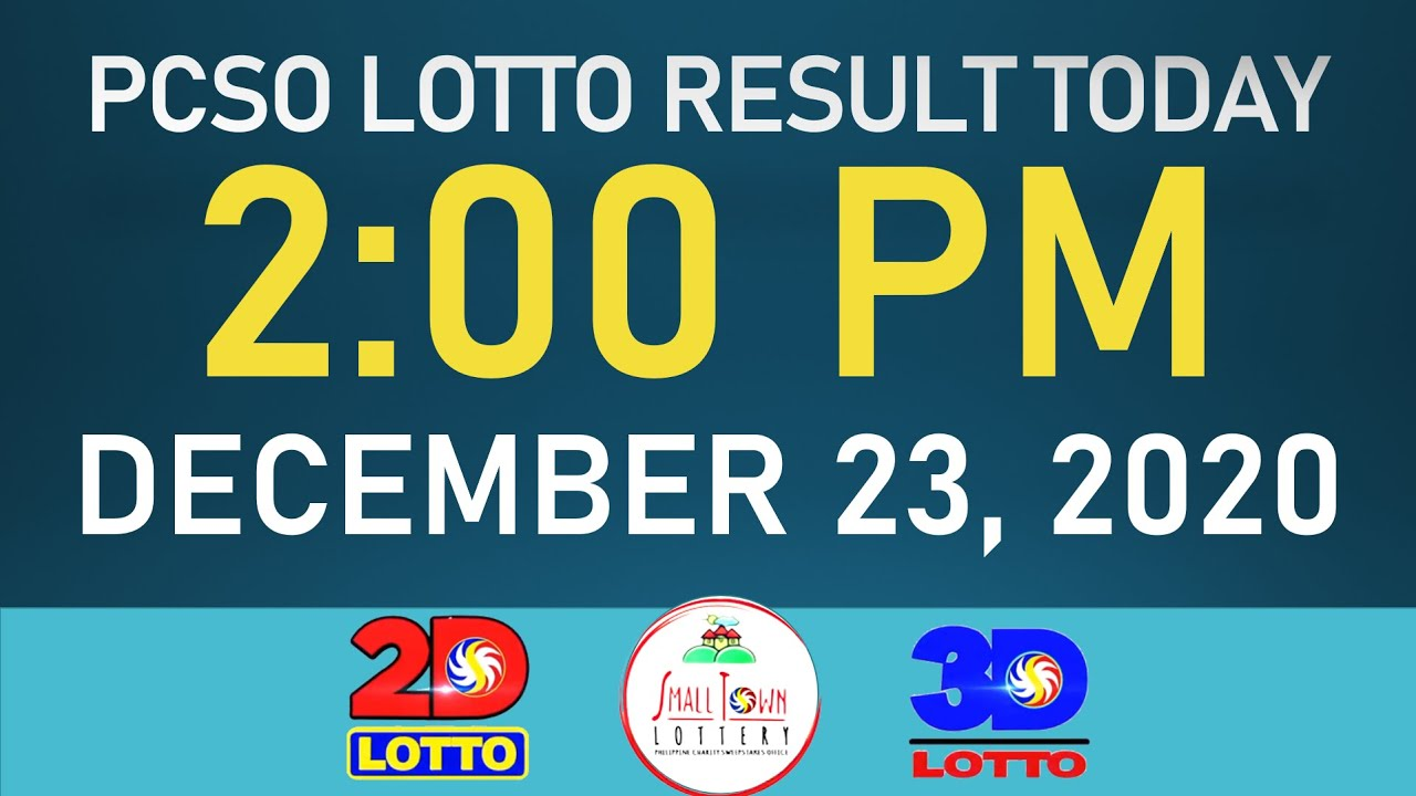 Lotto Result Today 2pm December 23 2020 Wednesday 2d Lotto Ez2 3d Lotto Swertres Stl Youtube