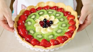 Crostata di Frutta Ricetta per Base, Crema e Gelatina - Homemade Fruit Pie Recipe
