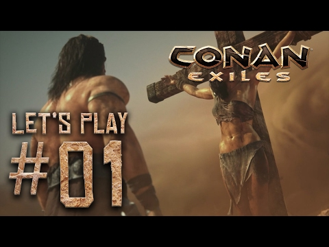 Conan Exiles ALPHA Let's Play #01 - Finding food and water