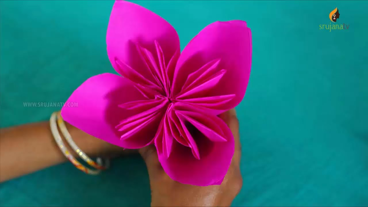 Japanese kusudama flower in origami paper crafts by srujanatv youtube japanese kusudama flower in origami paper crafts by srujanatv mightylinksfo