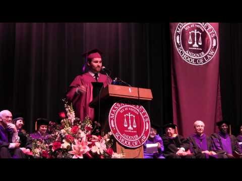 Charles Conrad Case III Graduation Speech - Massachusetts School of Law June 6, 2014