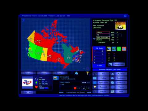 Canada 1993 Election Game (Progressive Conservative)