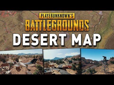 PUBG DESERT MAP - Neue Wüsten Map Analyse, Infos Bilder + Highlight Stream Gameplay