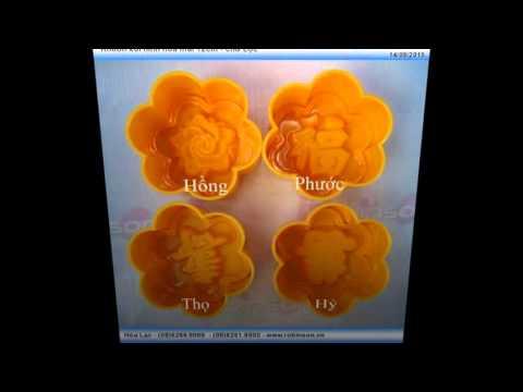 Khuôn ép xôi hình hoa mai - chữ Lộc