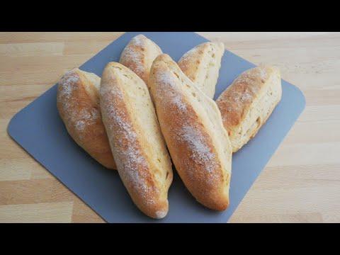 🥖recette-rapide-des-petits-baguettes-croustillantes-&-moelleuses-🥖small-crispy-and-fluffy-baguettes