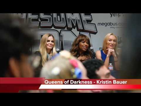 Queens of Darkness  Kristin Bauer, Merrin Dungey and Victoria Smurfit