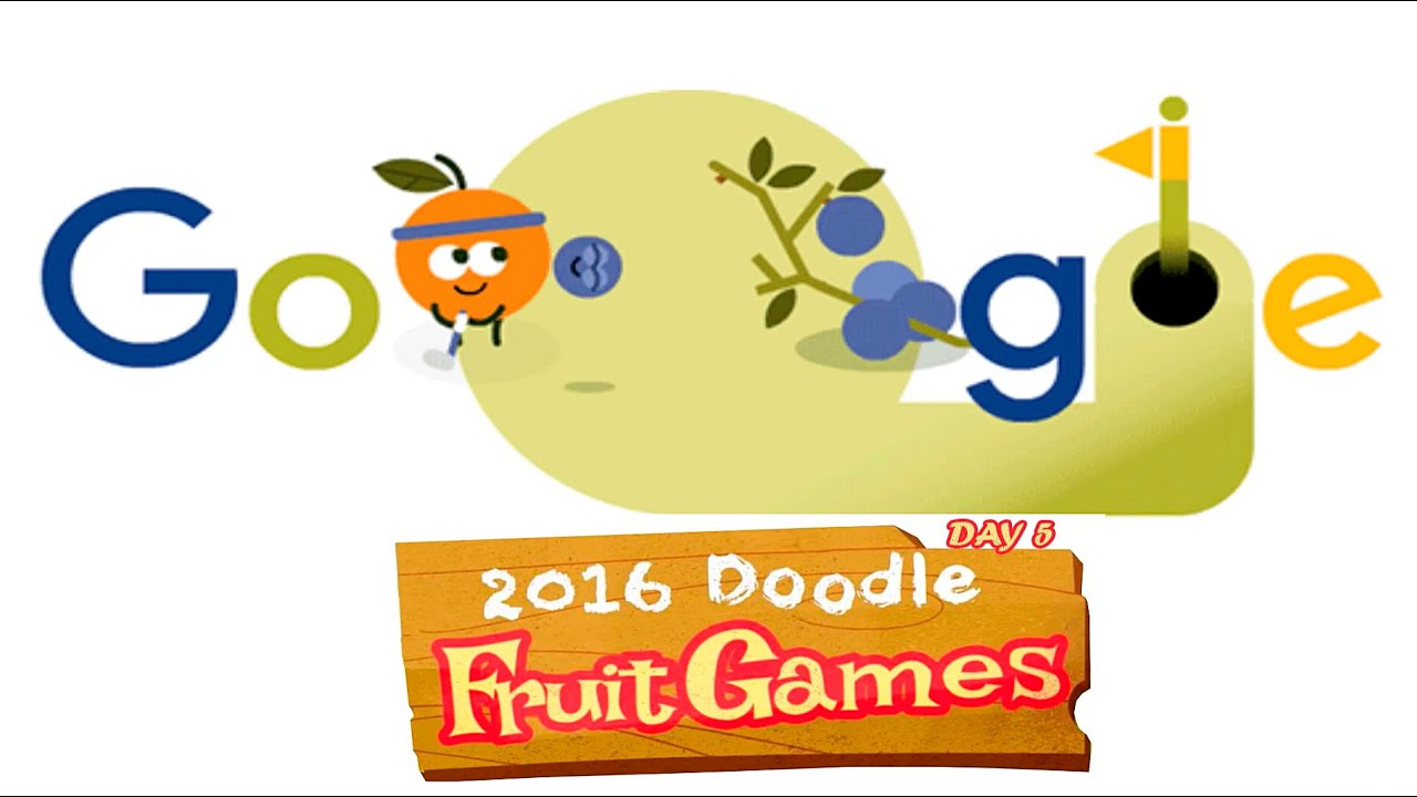Fruit Games 2016 Day 5 Golf Google Doodle Youtube