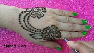 Beautiful Jewellery Mehndi Design back hand | Mehndi Design for Hands