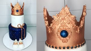 Cake decorating tutorials | Prince crown cake | Sugarella Sweets