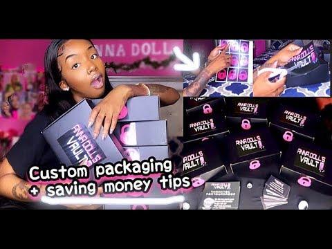 BOSS LIFE OF ANNA   CUSTOM PACKAGING , TIPS ON SAVING MONEY & MORE !  Ft Modern Show Hair