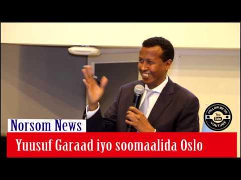 Qey kamid ah khudbadii Yuusuf Garaad ee Oslo Norway