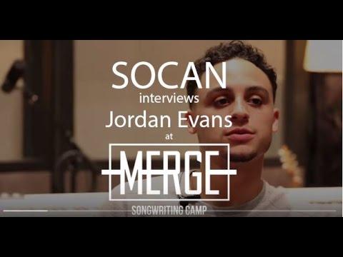 SOCAN Interviews Jordan Evans @ MERGE Songwriting Camp 2015