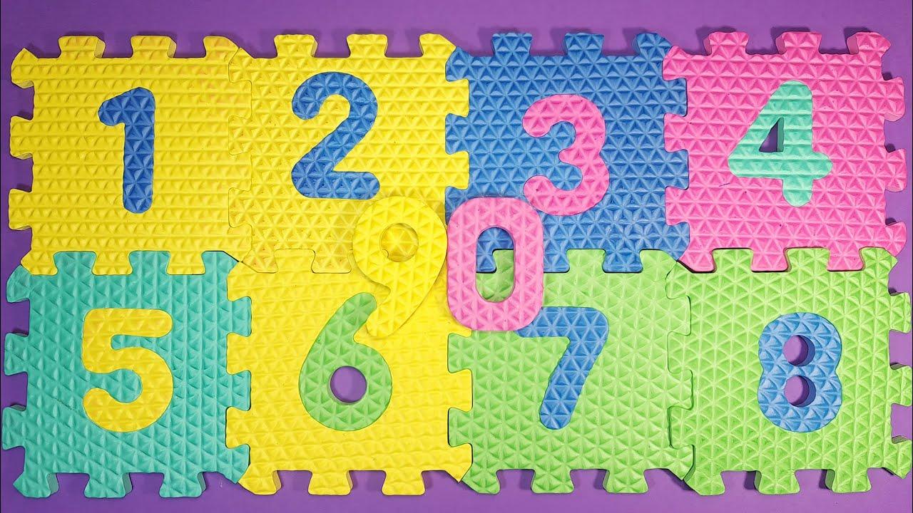 Aprendamos algunos números con estos números de rompecabezas de EVA | Kids Rainbow Español