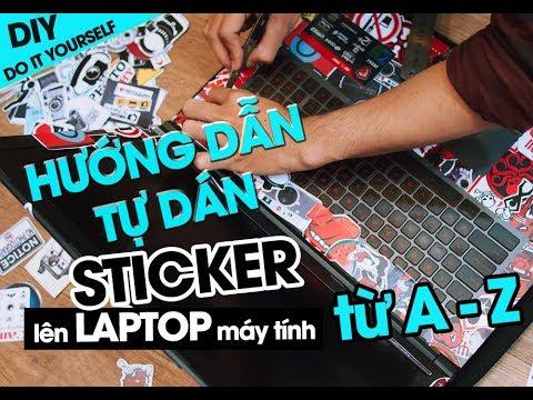 Hướng dẫn dán sticker hình dán lên laptop MSi | STICKERFACTORY.VN