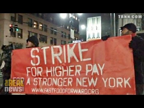 New York Fast Food Workers in Historic Strike for $15 an Hour