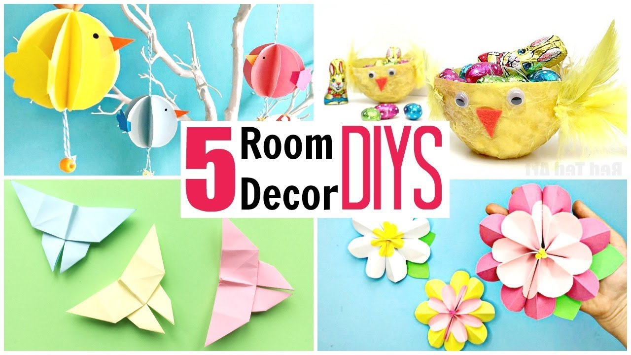 5 Super Easy Room Decor Ideas For Kids For Easter Spring Diy Paper Crafts Tutorial