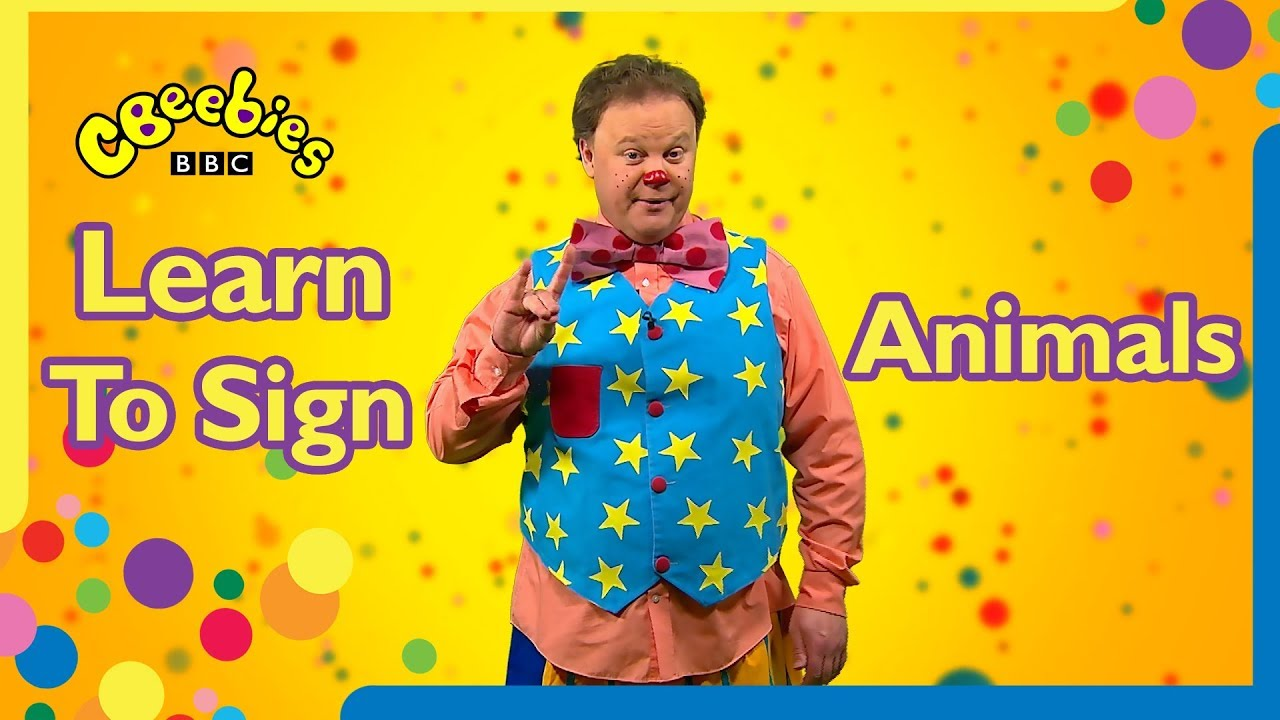 Learn to sign Animals | Mr Tumble🐑🐖🐒🐂