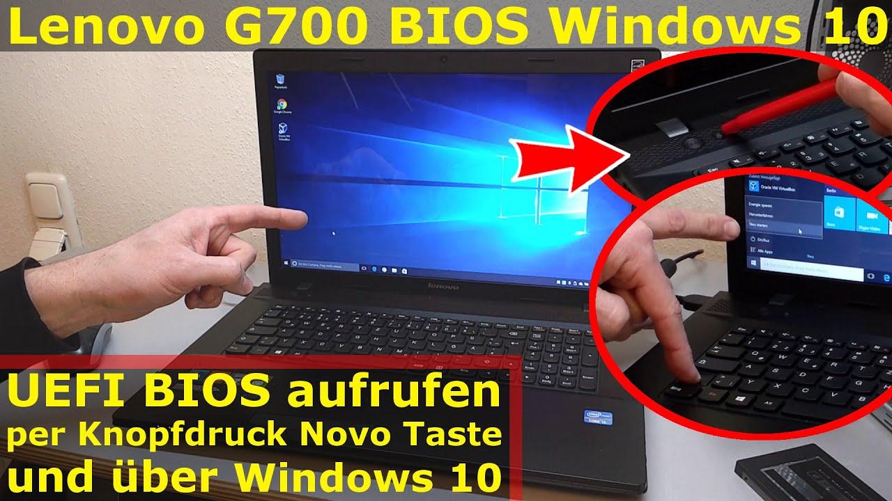 lenovo notebook uefi bios starten beim g700 mit windows 10