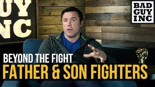 Father and son fighting on the same card...