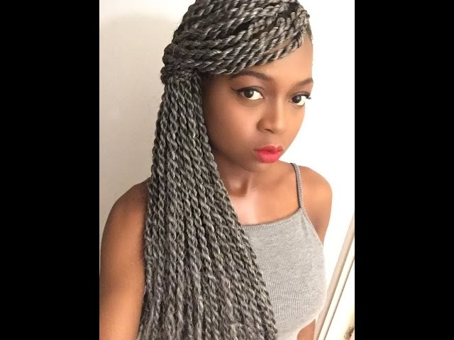 Quick Updo Tutorial | No Elastic Band | silver/Grey Braids