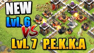"NEW Lvl 7 PEKKA vs Lvl 6 in ""Clash of Clans"" - CoC Update Troll Base Attacks [2018]"