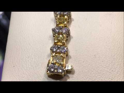 Yellow diamond bracelet at DK Gems VOTED BEST St Maarten jewelry stores