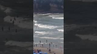 Dallge jo te vogla rrahin plazhin e Ulqinit - 25.07.2017 - Klan Kosova
