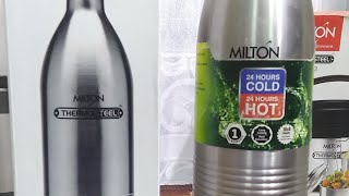 Milton Thermosteel Duo DLX 1000 Bottle : Feature and Live Review (Hindi) (Live Video)