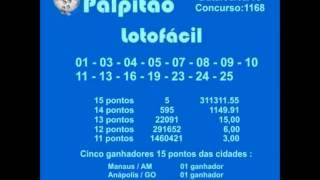 LOTOFACIL CONCURSO 1168 06022015