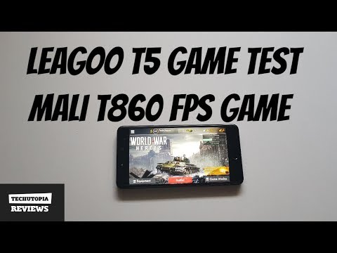 Leagoo T5 World War Heroes Gameplay MT6750T gaming test Online FPS game Mali t860