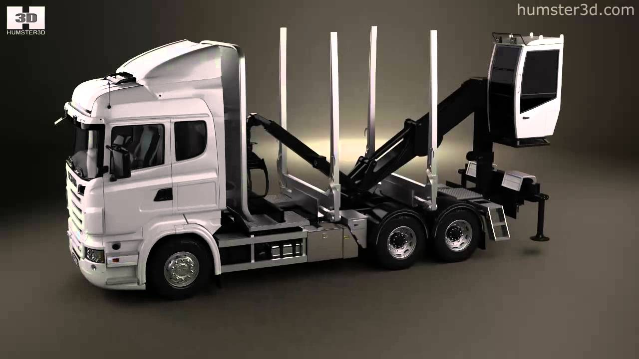 Scania R 730 Timber Truck 2010 by 3D model store Humster3D.com - YouTube