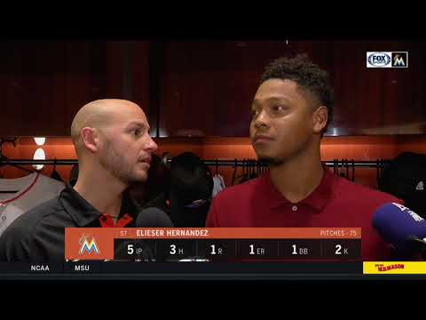 Elieser Hernandez -- Miami Marlins vs. Los Angeles Dodgers 05/16/18