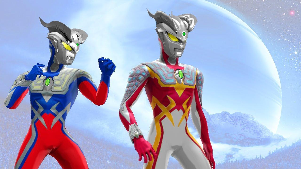 Ultraman Shining Zero Vs Ultraman Nexus And Legend Super Animasi