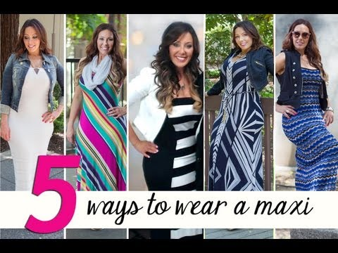 What to Wear Over a Maxi Dress