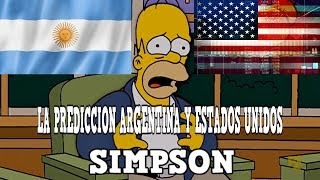 LA PREDICCION DE ARGENTINA Y ESTADOS UNIDOS en los SIMPSON
