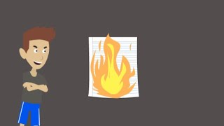 Classic Caillou sets his Test Paper on Fire