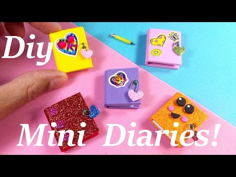 DIY Miniature Diaries / Journals - Easy & Cute!