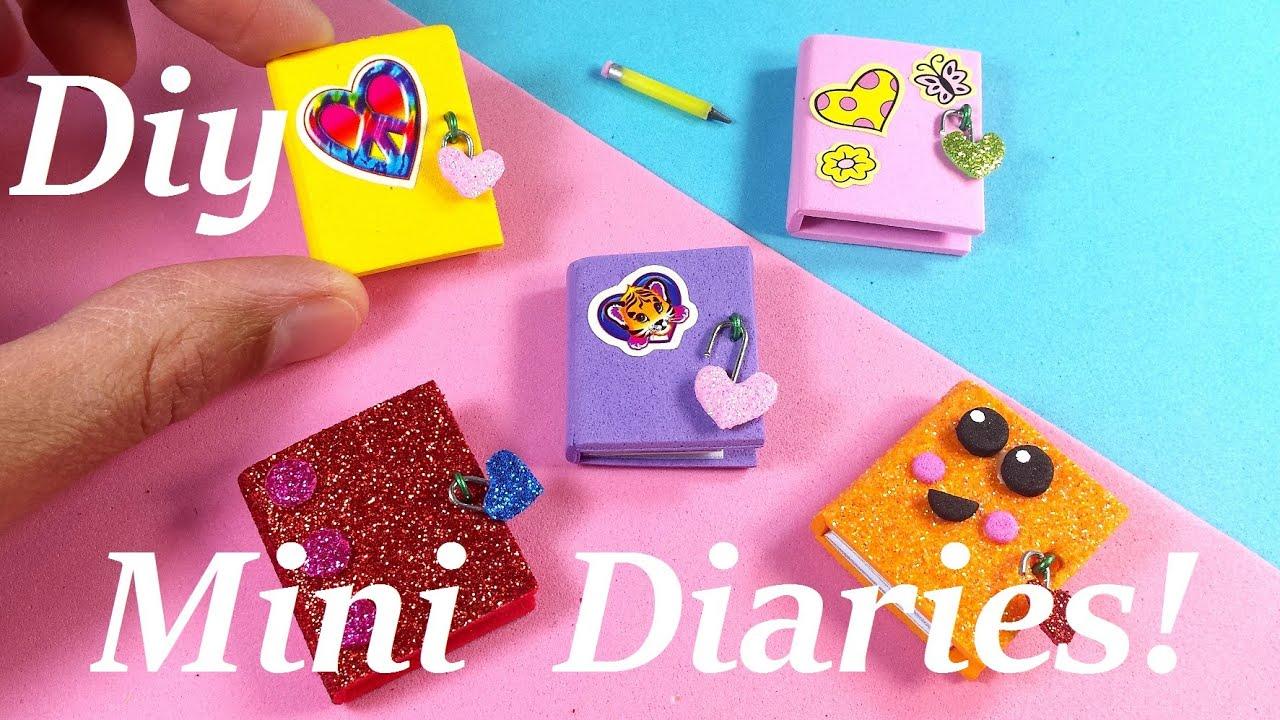 DIY Miniature Diaries / Journals - Easy & Cute! - YouTube - photo#28