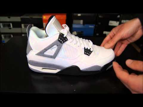 Air Jordan IV (4) White/ Cement Grey