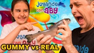 Gummy Vs Real Food Challenge Con Aby