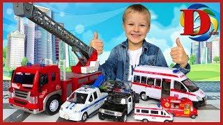 Городской транспорт для детей. Видео про игрушки машинки