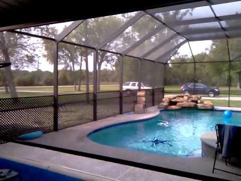 Motorized Retractable Pool Screens
