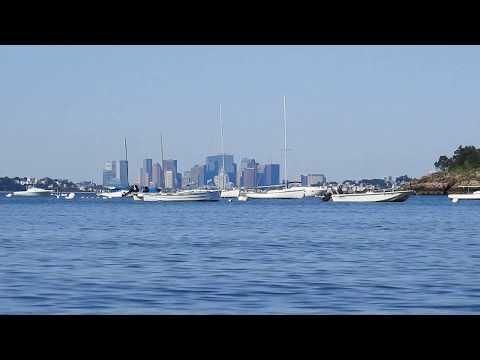 Nahant Island to Winthrop/Revere from 4 miles and Boston from 8 miles, 6 inch elevation