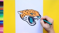 How to draw and color the Jacksonville Jaguars Logo - NFL Team Series