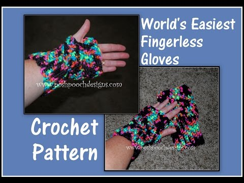 World's Easiest Fingerless Gloves Crochet Pattern